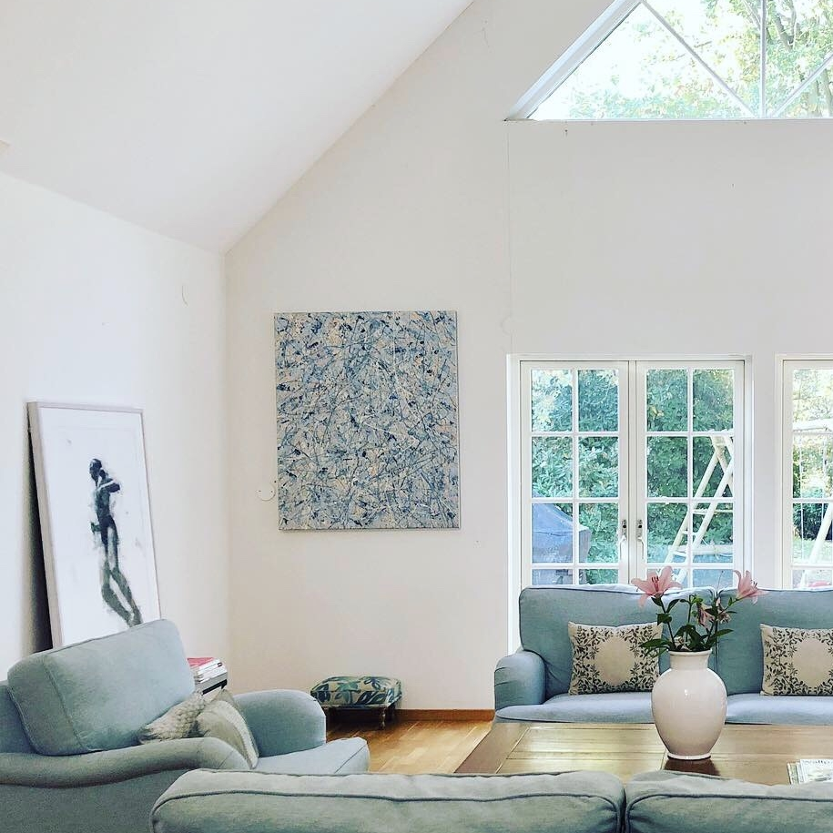 Work by artists Albert Fröling and Marta Lafuente, in a home in Höllviken