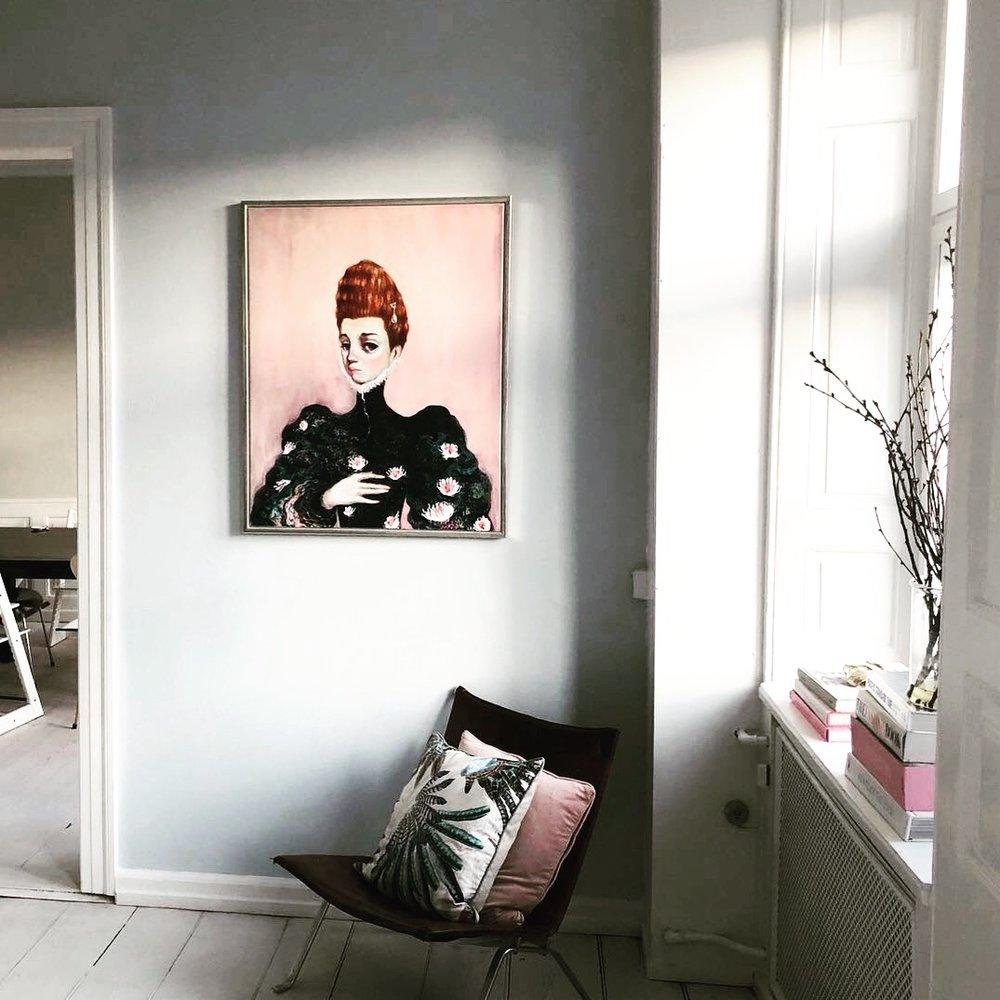 Portrait by Pablo de Gortari, in an apartment in Copenhagen