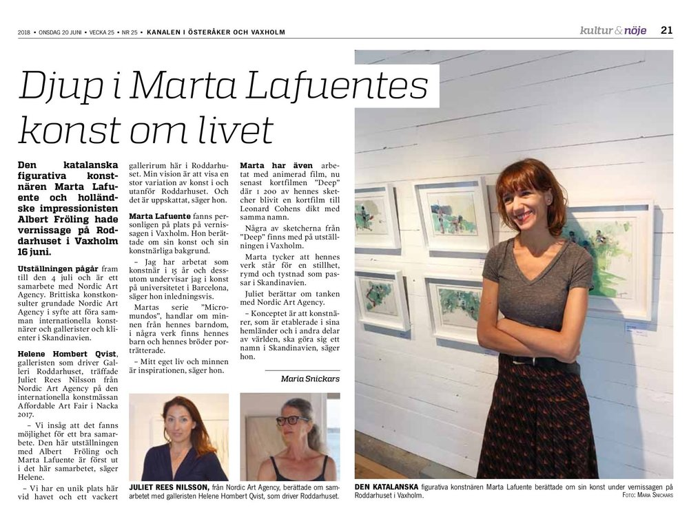 Marta Lafuente - Stockholm, Summer Exhibition 2018