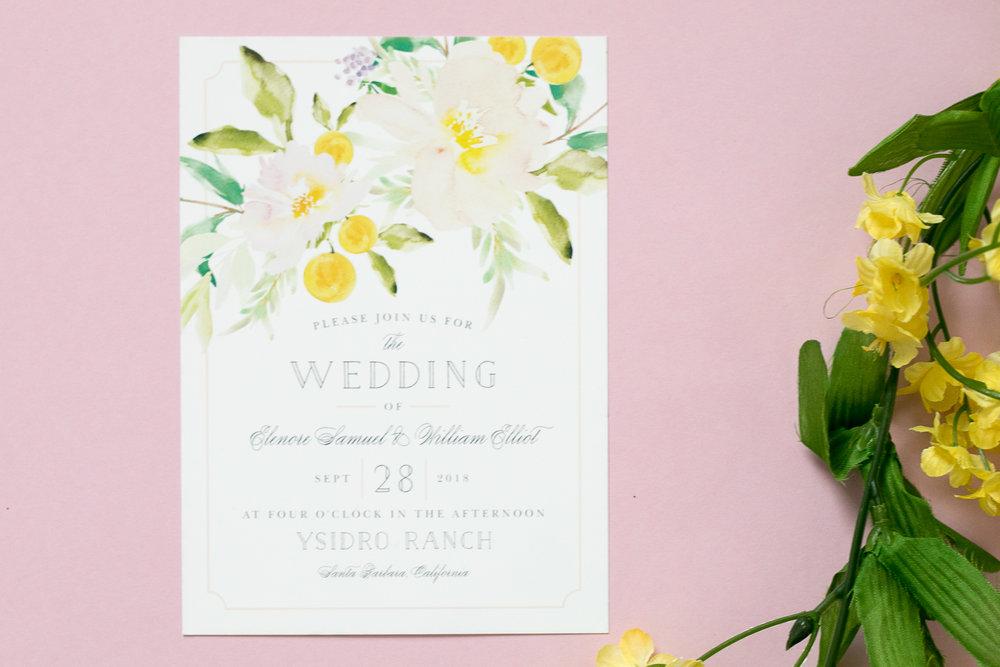 Basic Invite Pink Floral Invite