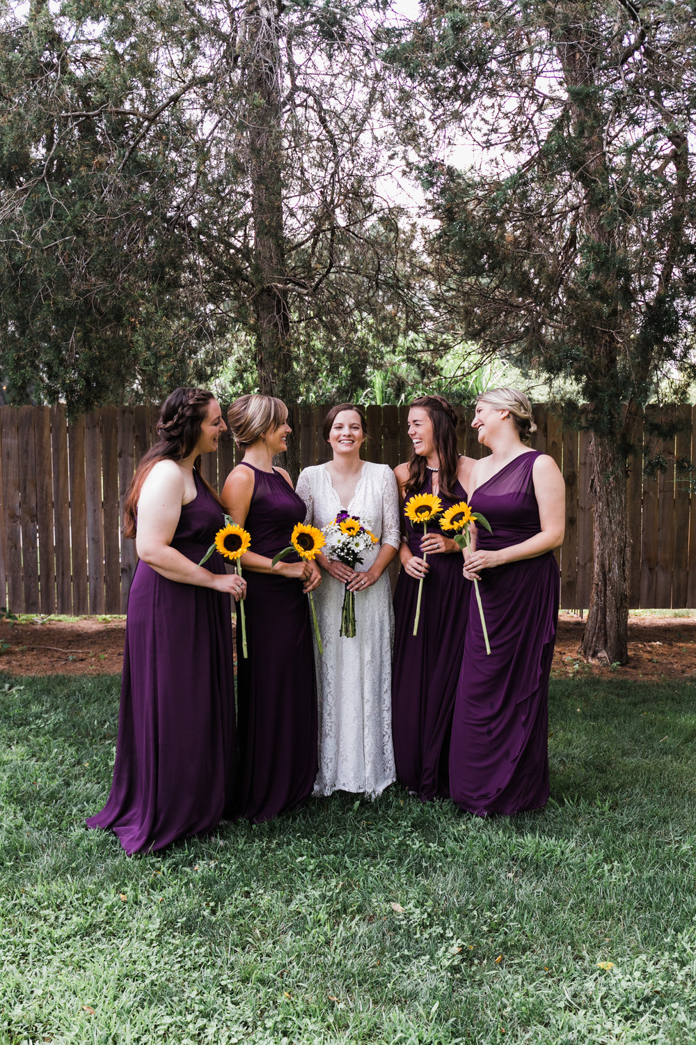 West Michigan Wedding Photographer | Sunflower Bridesmaids