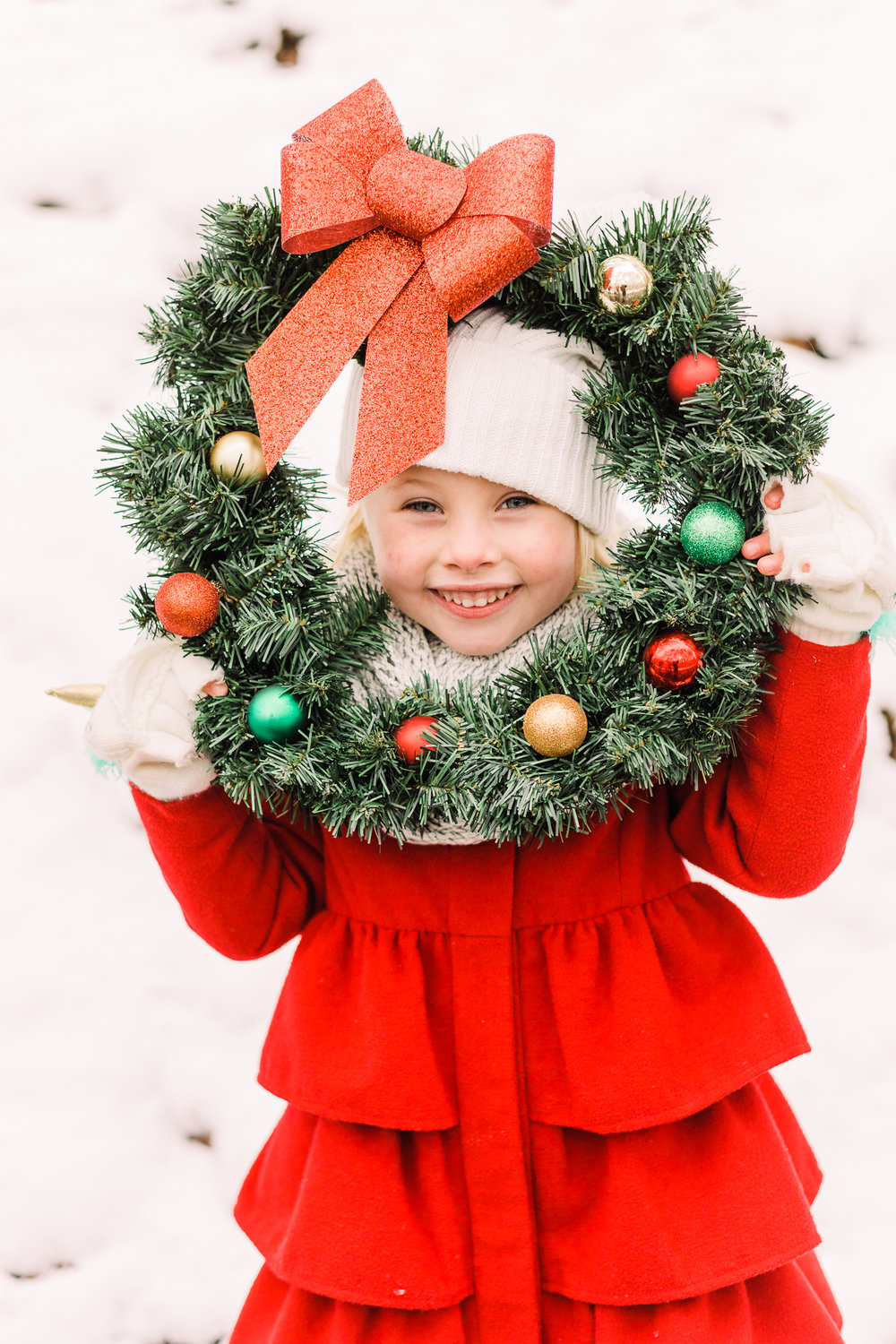 Kalamazoo Family Photographer | Christmas Card Picture with Wreath