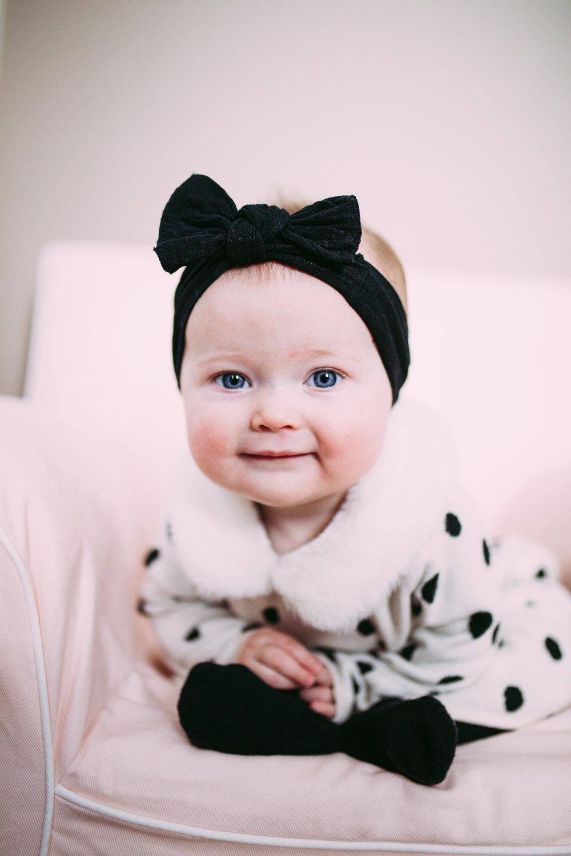 6 Month Girl Photoshoot