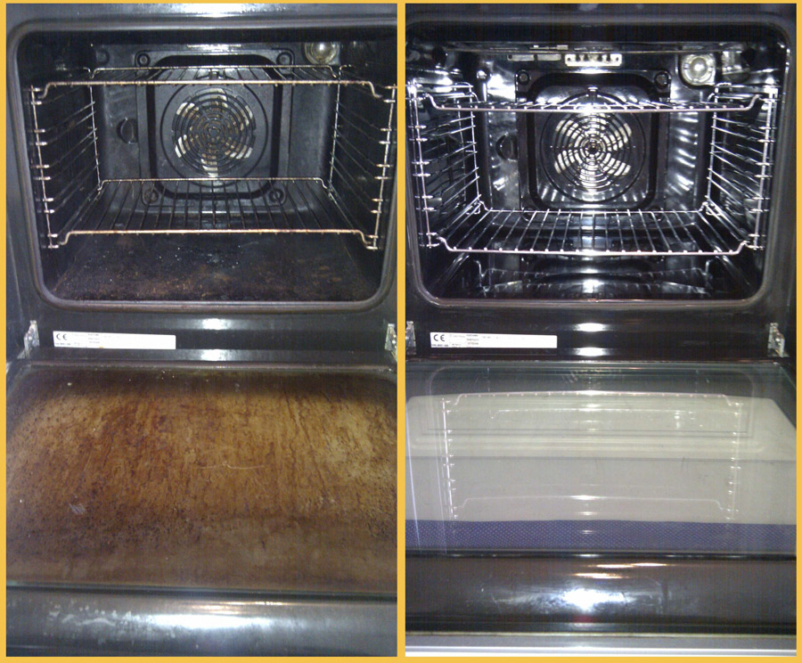 Oven cleaning, before and after!