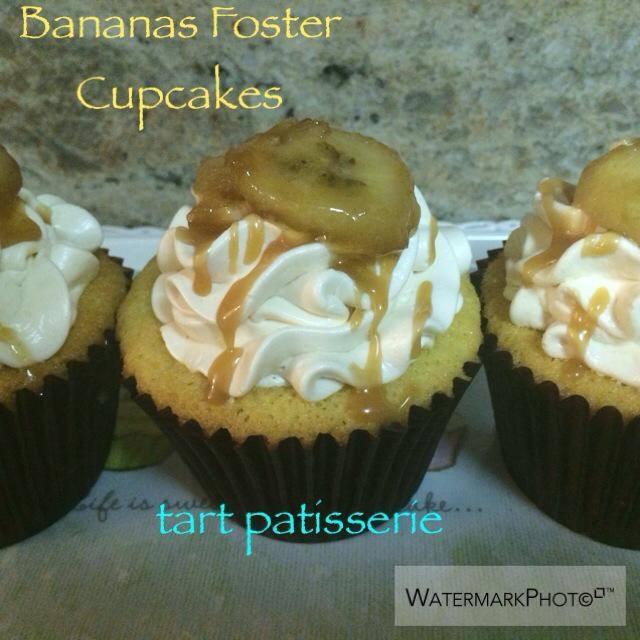 Bananas Foster Vanilla cake / rum caramel bananas / rum caramel buttercream