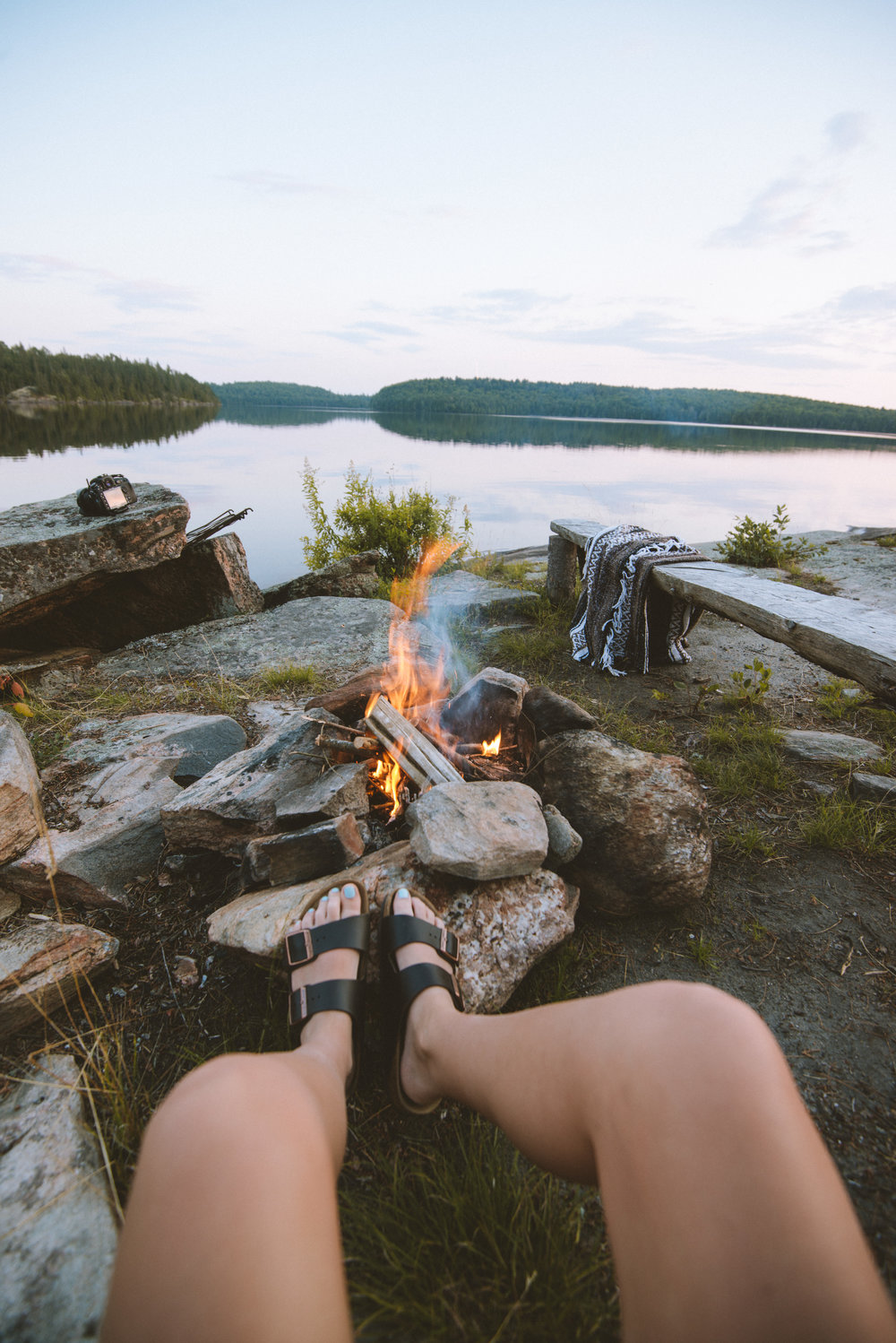 Back country camping - Cauliflower Lake - Algonquin Provincial Park