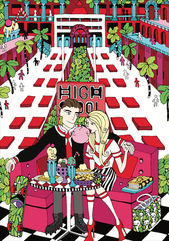 'HIGH SCHOOL' by AZZURRO. Commissioned work for TEO Magazine Issue 8