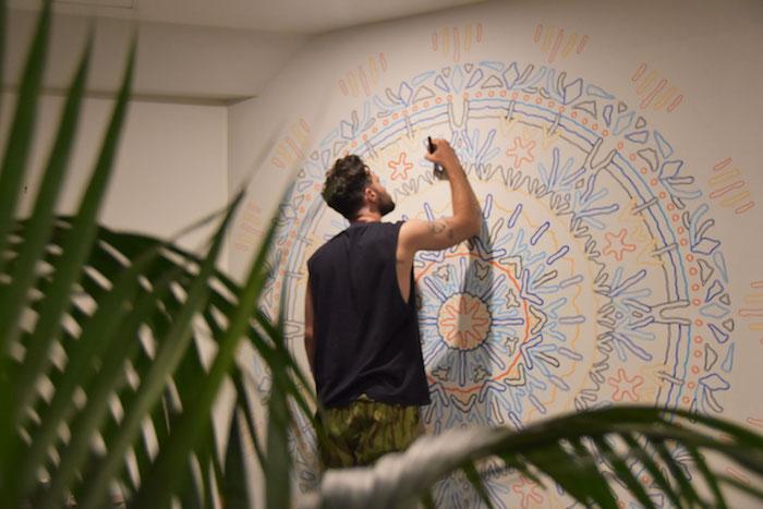 LEWIS DALBY (@lewdala) working on a coral-inspired mandala.