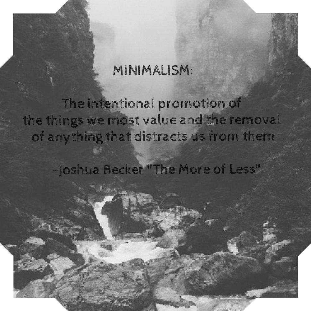 Joshua Becker minimalism quote