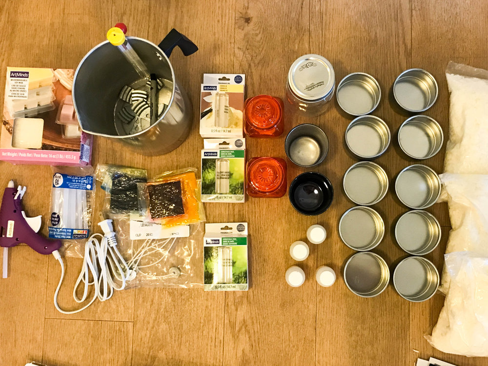 All candel making supplies (including Christmas gifts)...so basically everything from the line of green to the right will be going away.