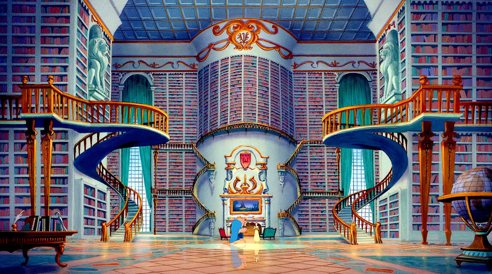 Beauty and the Beast where Beast gives her the castle library...this is what I always thought I wanted