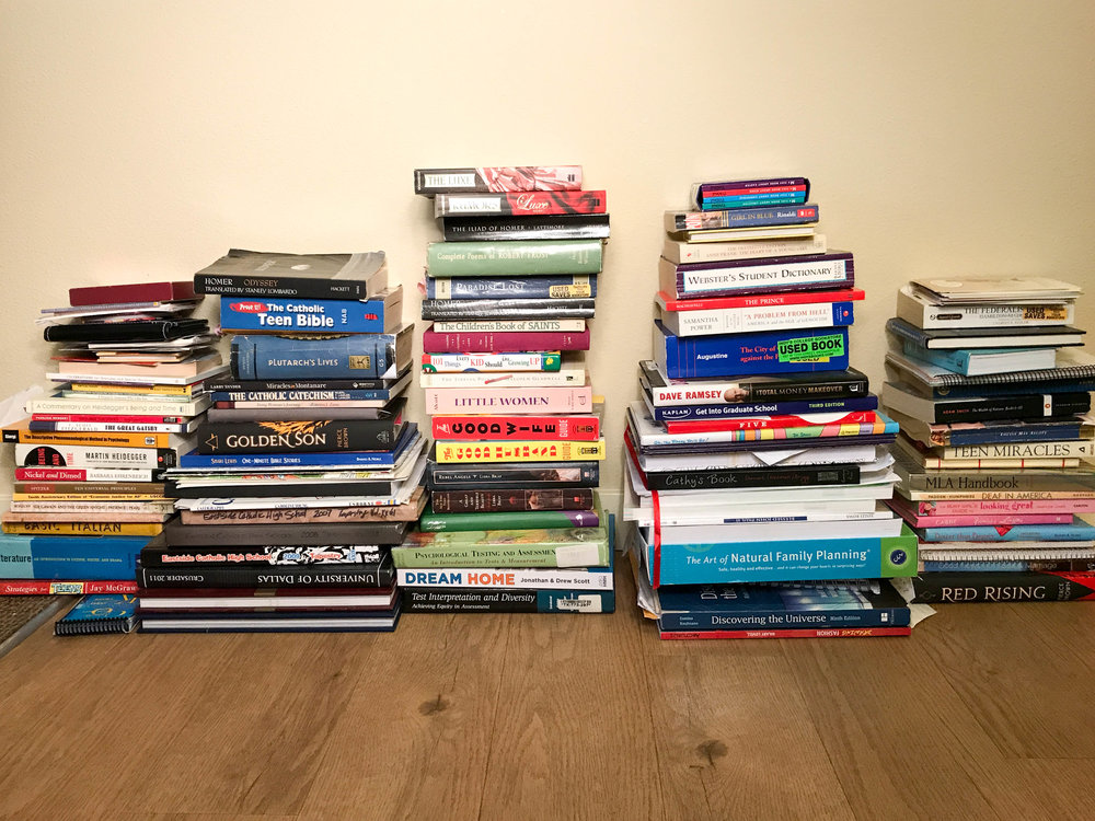 Books after taking out favorites and easy to get rid of books