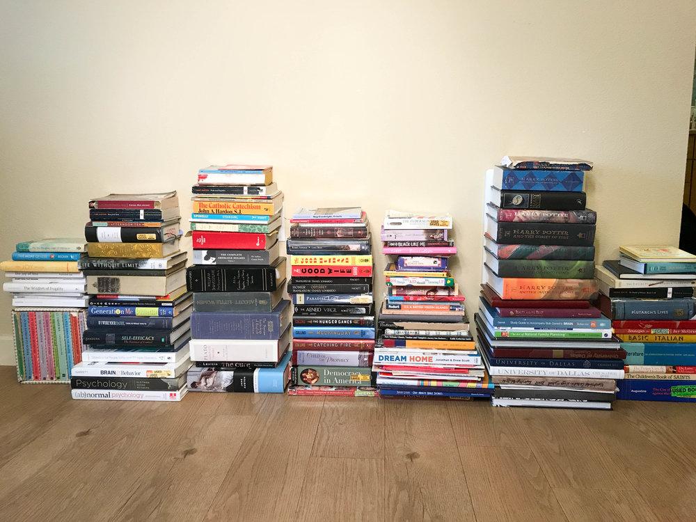 Juliauna's book collection (the minimalist)