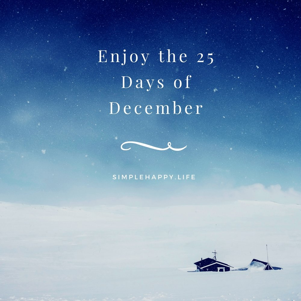 25 posts during December spanning from how to have a happy minimalist Christmas to how to prepare for 2018. Make sure to check back on Christmas day for your special blog post/gift!