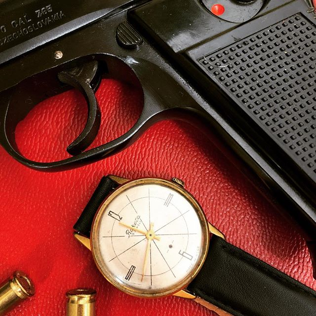 "My old school cool ""Raketa"" watch.... made in USSR. #raketawatch #cz #32acp  #gunporn #2ndammendment #everydaycarry #2a #pewpewlife #igmilitia #weaponsdaily #gunsdaily #edc #gunchannels"