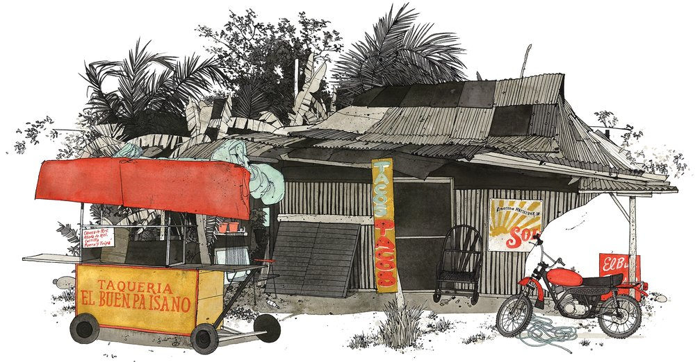 Talum Taco Shack | Artwork by Evan Hecox