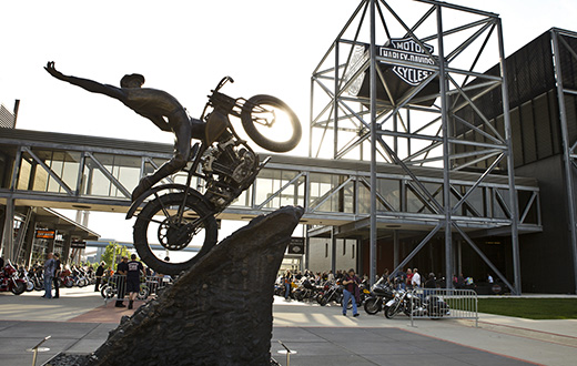 Harley-Davidson Hill Climber Statue at the Harley-Davidson Museum.jpg