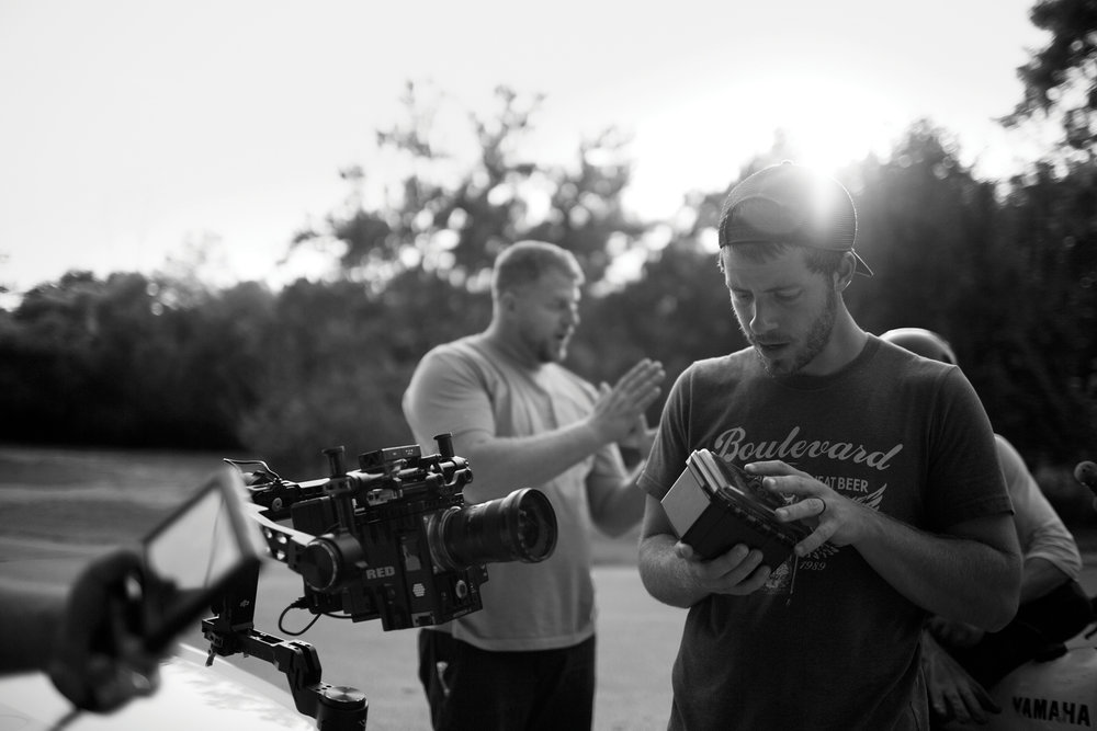 Trevor Hawkins prepping camera on car rig | Photo by Tucker Adams