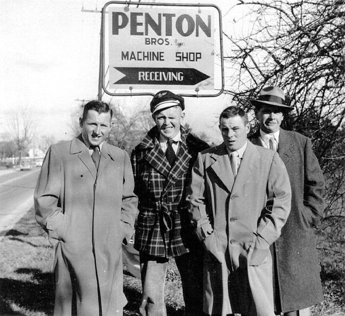 Penton brothers_1950_Bill_Ted_John_Ike_l_to_r.jpg