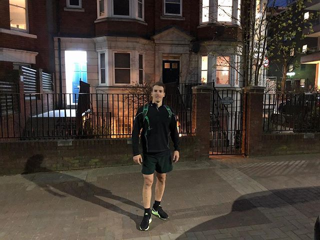 It's not under 10 days before our Marathon man, Angus Dixon, takes on the @londonmarathon in our first ever charity spot at the event! . . This snap was taken on a post work 10 mile run, but Angus was still feeling sharp. . . Head on over to his fundraising page using the link in our bio and follow him for more regular updates. . . #noexcuses #marathon #londonmarathon #concussionawareness #running