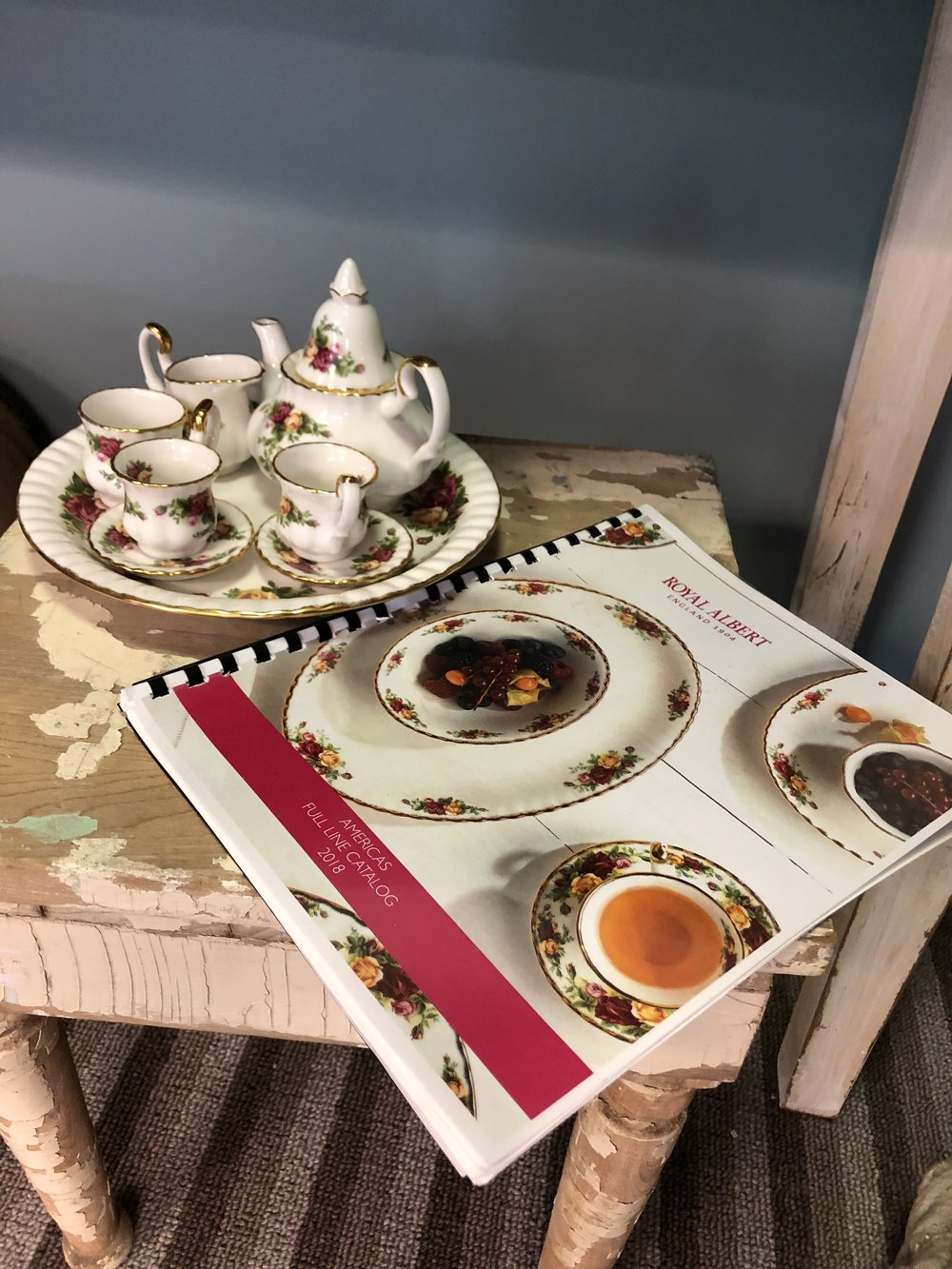 Shop Royal Albert China. Whether you are finishing your collection or looking to start a bridal registry, Polly Claire's Gift Shop offers the luxury of being able to see and feel each piece of china as Polly Claire's is the only contracted Royal Albert distributor in the Chattanooga area.  -