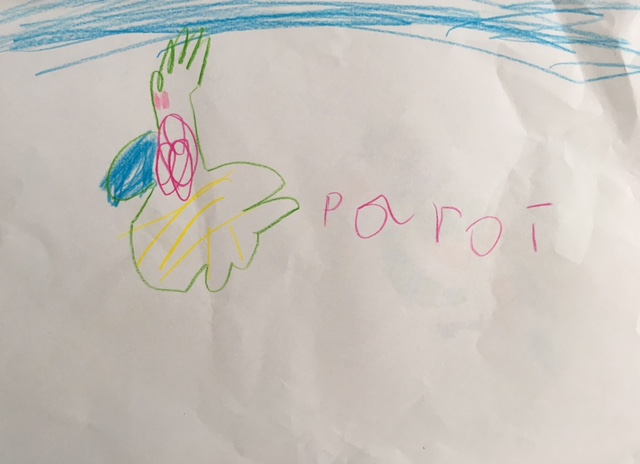 Parrot in the sky, by Keiya