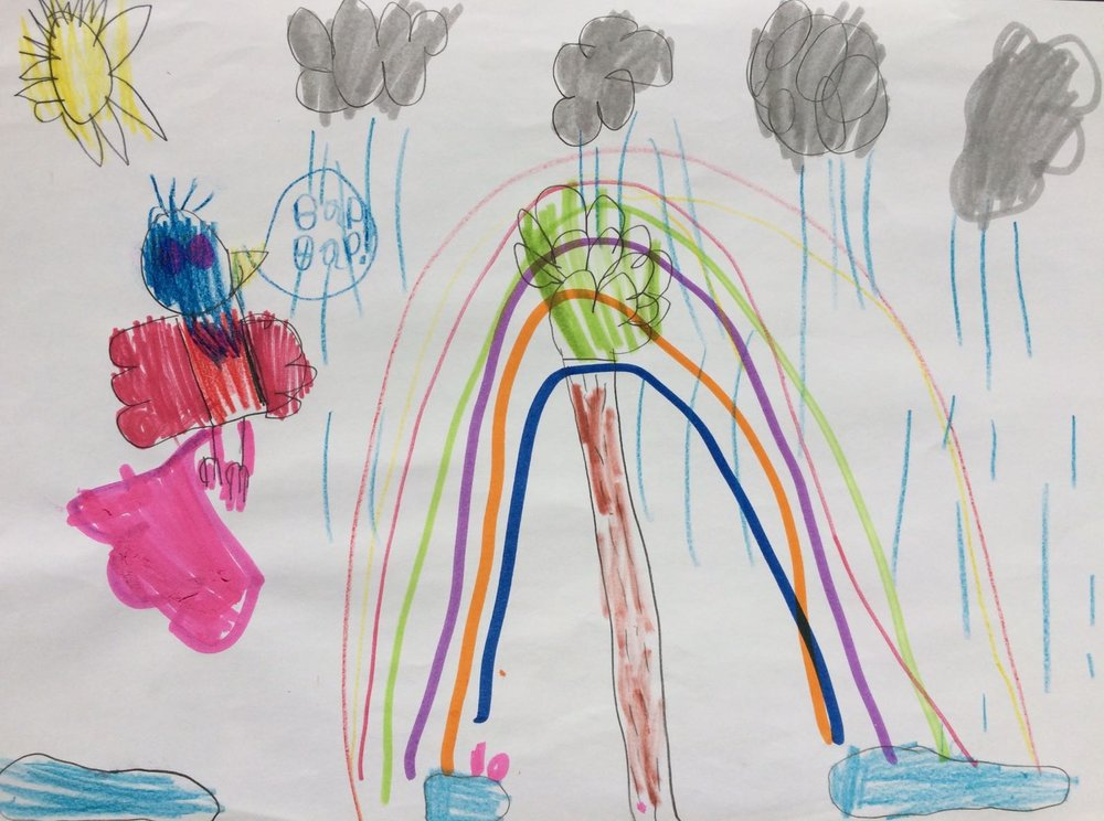 A beautiful rainbow, by Keira
