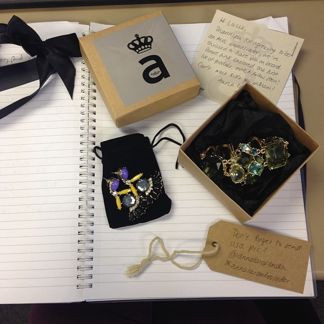 LOVE LOVE LOVE the @Annalouoflondon goodies that have just landed on my desk! Great way to start the weekend!