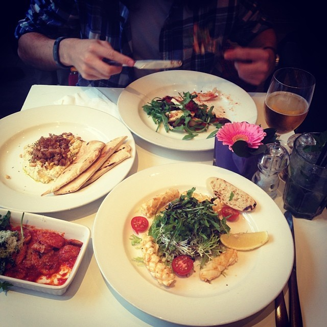 Mezze lunch at Fig & Olive in Highbury & Islington with @jmgreative.