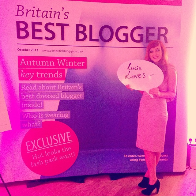 Hello from the @cosmopiltanuk #cosmoblogawards. Great night meeting the gorgeous @britbloggers.