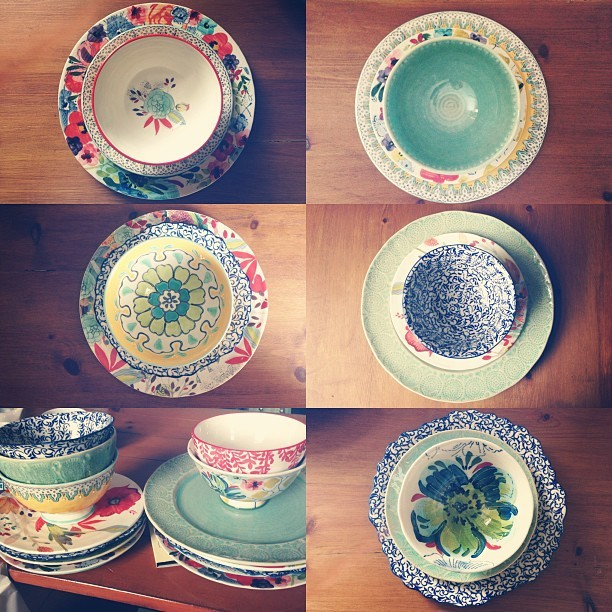 Say hello to my @Anthropologie birthday present. I'd had my eye on their pretty plates and bowls for a while. Over 2 years I reckon? And so, for my 28th birthday, I decided to use my money from friends and family to buy myself 5 individual sets - bowl, side plate and dinner plate. It's funny how wanting something for so long seems to make the final purchase feel even more special. See more homeware beauties for yourself here…  http://bit.ly/1ezv0hJ
