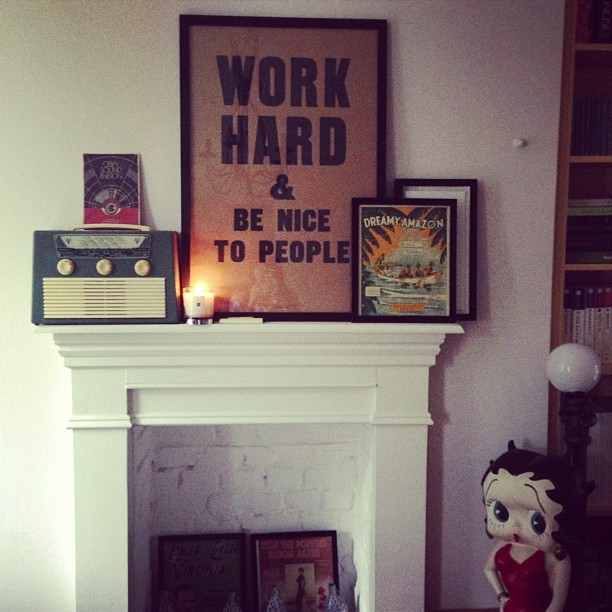 I also got a pomegranate noir candle off @jmgcreative. Thoroughly spoilt! It's the perfect match for the white jasmine and mint one you bought me @_misswong. Hopefully our new house will smell like a dream! #home #anthonyburrill #workhardandbenicetopeople #bettyboop #art #style