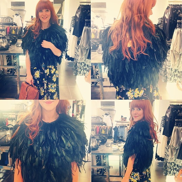 Oh my goodness! I love this @topshop feather cape. I know it's a bit outrageous but it'd be like playing dress-up every time you wore it.