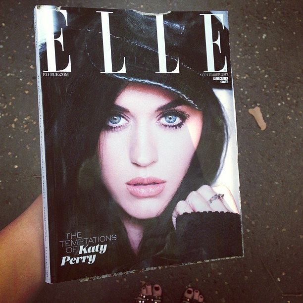 @elleuk My much-awaited September issue came through the post with a chunk out of the cover 😩 very odd. #naughtypostman