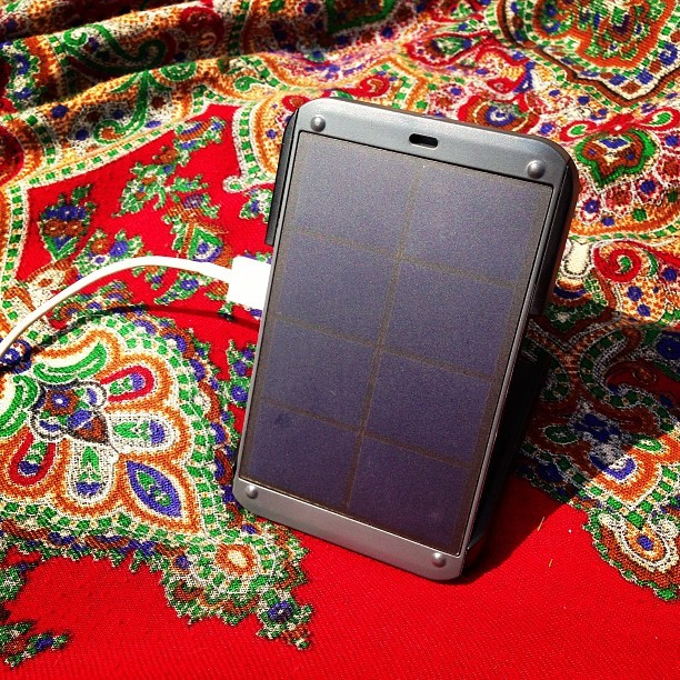 What every festival-goer needs. A @WakaWakaLight to charge your iPhone using solar power.