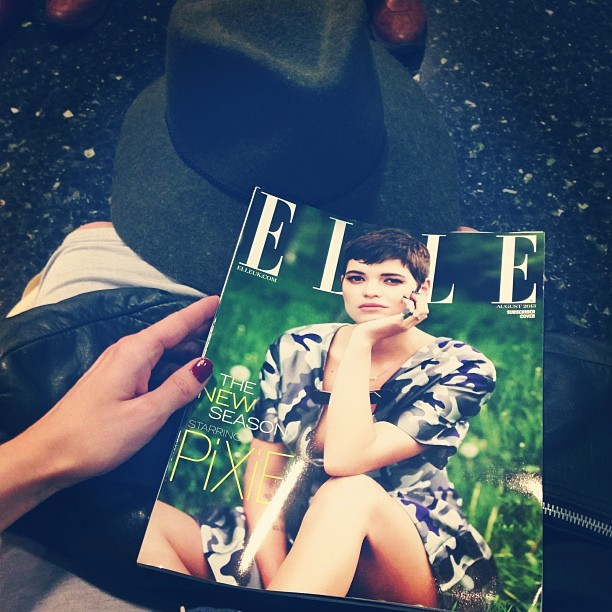 Waiting for the train isn't so bad when you've got the August edition of @ELLEUK to devour.
