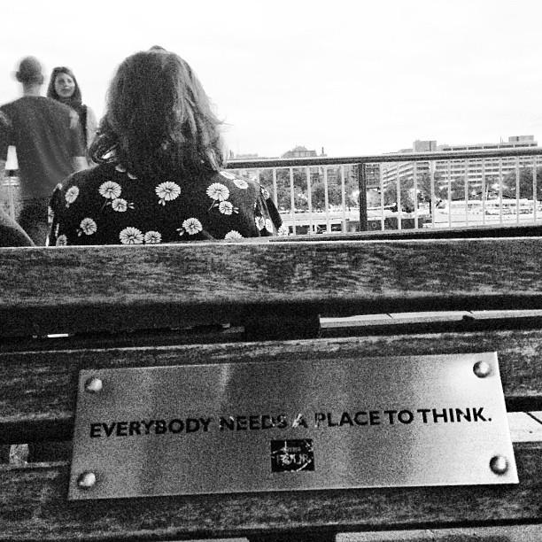True story. #festivalofneighbourhood @southbankcentre. I love a good bench.
