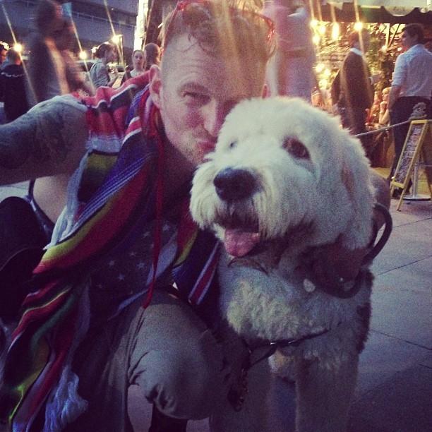 Meet Oscar, @LucieConoley's AMAZING dog. @jmgcreative #festivalofneighbourhood #london
