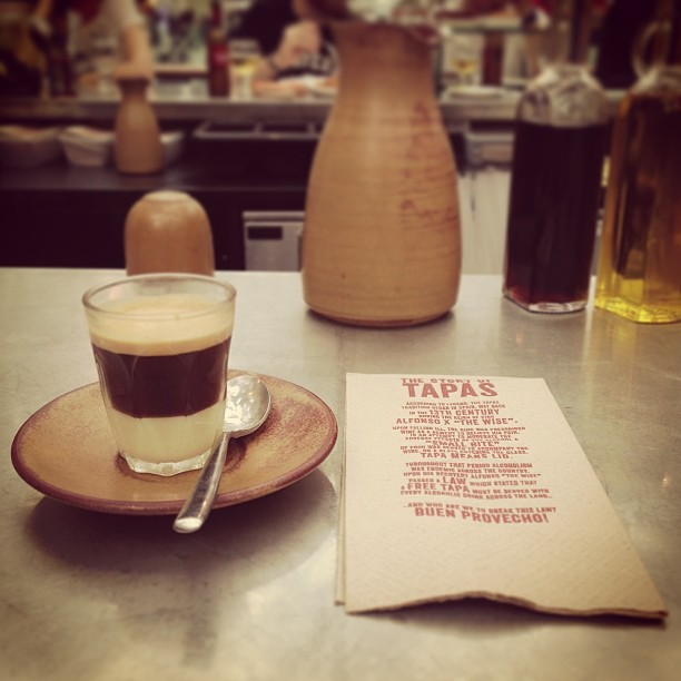 Cafe bon bom at Tapas Revolution @westfield with @_tweedles.  #coffee