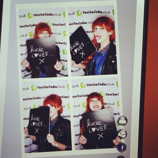 Had a wicked evening! Thank you @vouchercodesuk #mwswapshop. #fbloggers #london #lucieloves