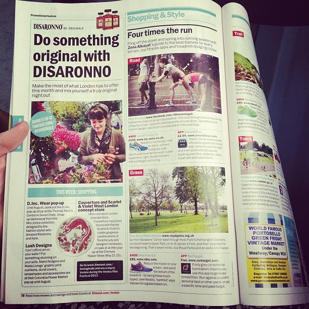 Ladies… and gents! Get your run on! Pg. 78-79 @timeoutlondon @nikeuk