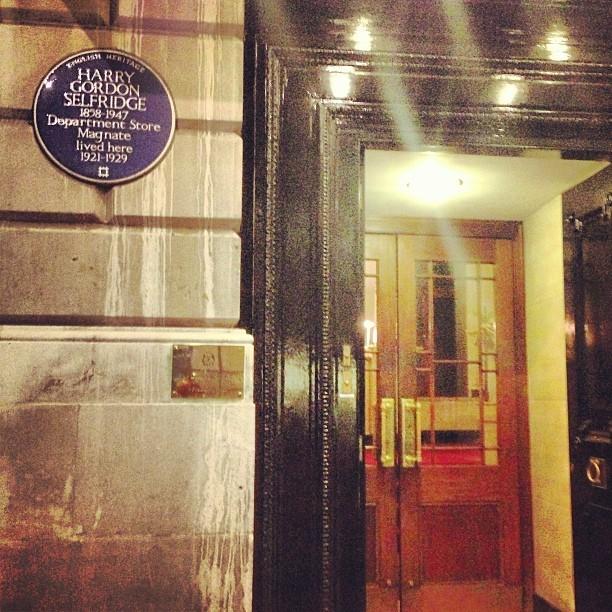 OMG OMG! Mr Harry Gordon Selfridge lived here! @selfridges