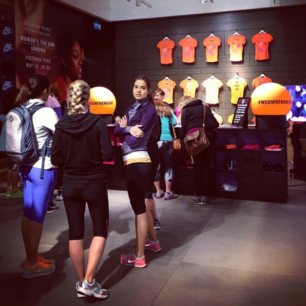 Picking up my #weownthenight @nikeuk   race day pack!