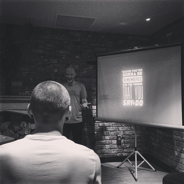 Snapshot from lastnight. An evening with Gavin Strange aka @jamfactory @thehoxtonhotel. Love this quote.