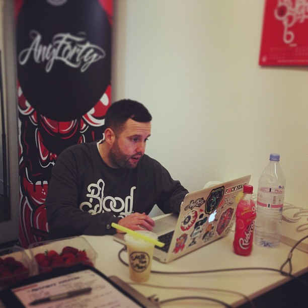 Working hard as always @anyforty @boxpark #shoreditch