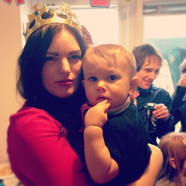 Mama @holliekav and baby Woody. Happy 1st Birthday. #piratesandprincesses
