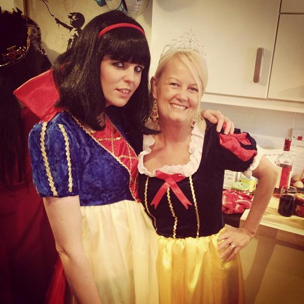 Gorgeous ladies @avaandrubysmama and my mama @jolloyd19. #piratesandprincesses #fancydress