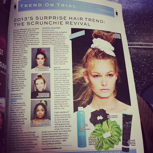 Something you most definitely WILL NOT see me wearing… @jolloyd19 @holliekav @avaandrubysmama #bleurgh #80s #hair