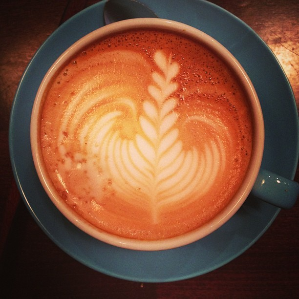 Pretty cafe latte @workshopcoffee, London. #coffee
