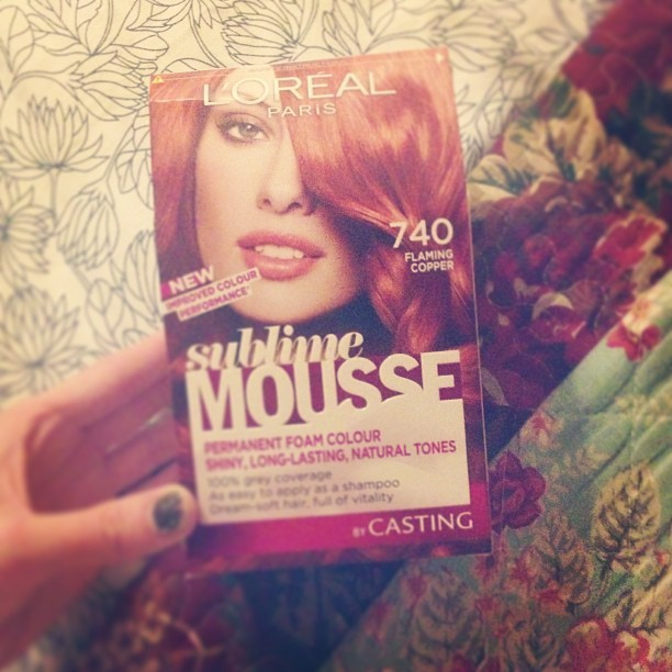 It's that time of month again… @lorealparisuk #loreal #sublimemousse #flamingcopper #740 #redhead #hair